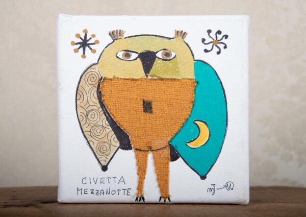 quadro-civetta-colorata-siena-shop